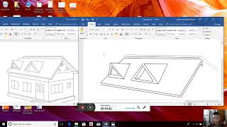 How to make a House in MS Word