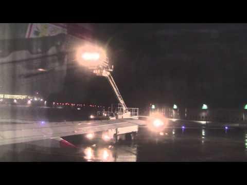 Düsseldorf International Airport at Night: Taxi, De-Ice & Take-off, Germany - 8th February, 2013