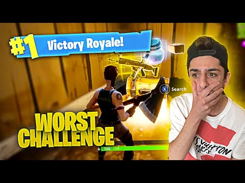 ATTEMPTING THE HARDEST CHALLENGE ON FORTNITE: BATTLE ROYALE! (DO NOT TRY)