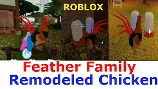 Feather Family Remodeled Chicken Roblox | Rooster can fly for a short time