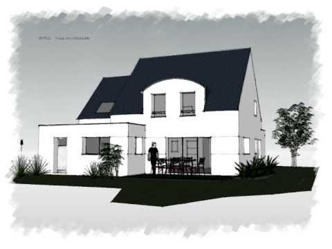 Arteco 330 maison contemporaine 2 pans youtube - Maison moderne toit 4 pans ...