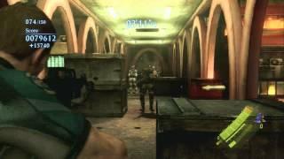 Resident Evil 6 Mercenaries: Urban Chaos - Chris Gameplay (PS3)