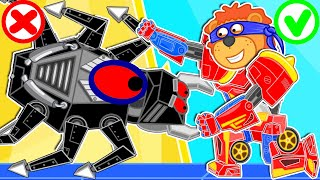 Lion Family ⛑️ Iron Robot #20. Transformer's Rescue Team | Cartoon for Kids