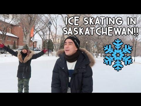 OMG! ICE SKATING FOR THE FIRST TIME (SASKATOON)! | Vlog #69