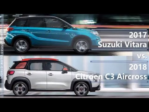 2017 Suzuki Vitara vs 2018 Citroen C3 Aircross (technical comparison)