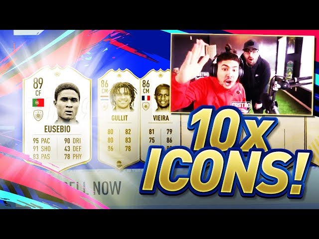 10 ICON SBC PACKS!! YOU WON'T BELIEVE THIS!! FIFA 19