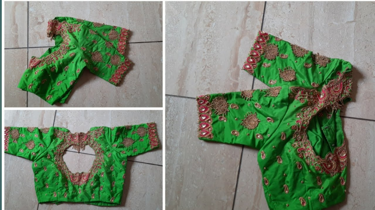 Download Grand design aari work blouse || cut work design aari work blouse || Lishu bridal blouses
