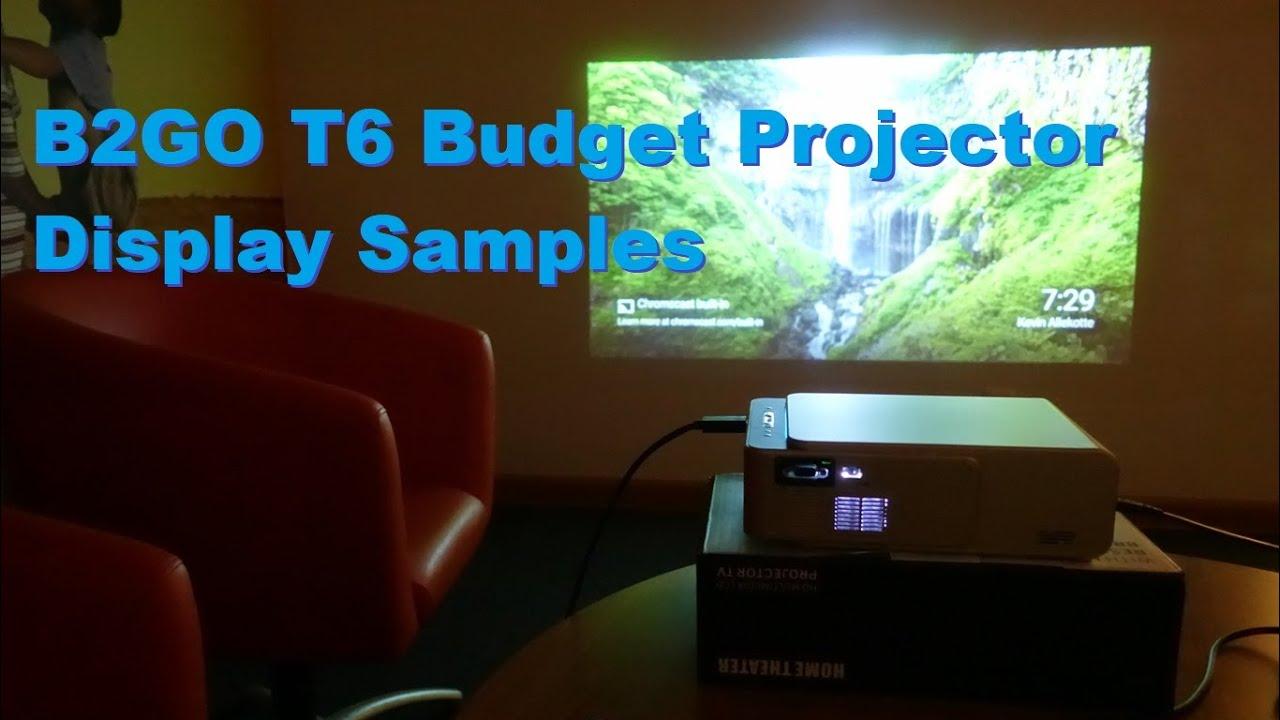 B2GO T6 LED/LCD Budget HD Projector 720p Display (via Xiaomi Mi Box, Xbox One S) Samples