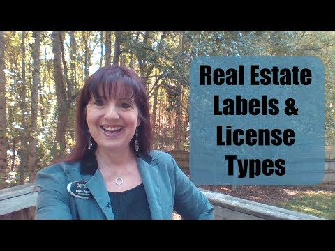 Real Estate Labels & License Types