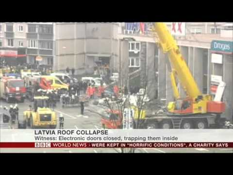 BBC News- Supermarket roof collapse leaves 54 dead in Latvia- Rayyan Sabet-Parry