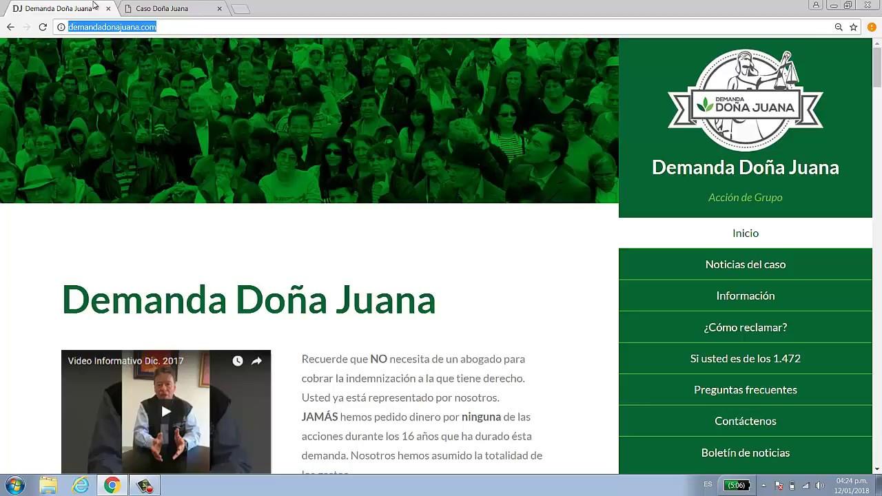Demanda Doña Juana
