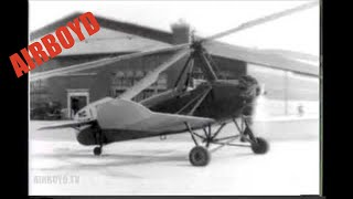 """Helicopter In New Tests """"Turns Turtle"""" (1928)"""
