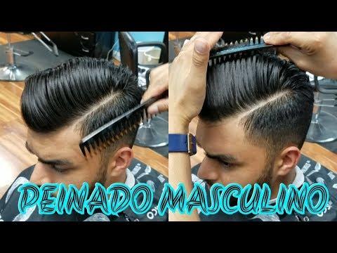 Peinado de lado con raya hombre