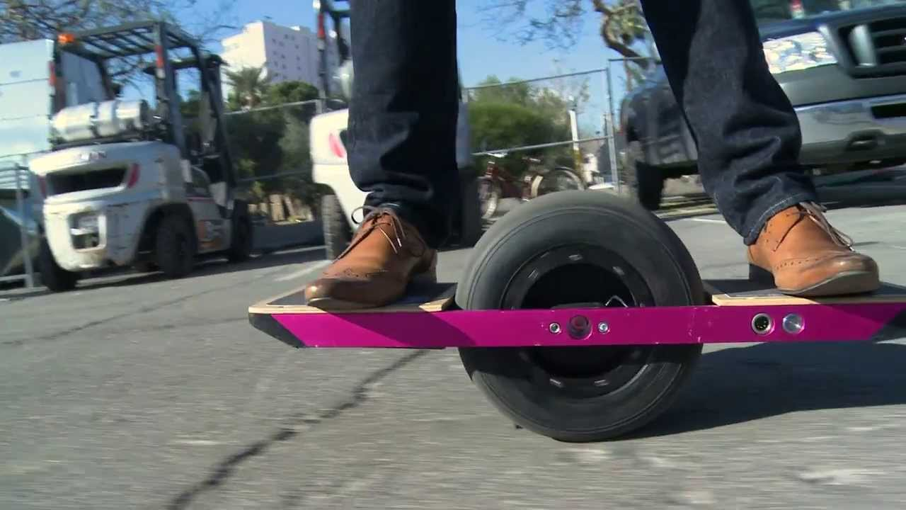 One Wheel A Cross Between Skateboard Unicycle Click Bbc News You