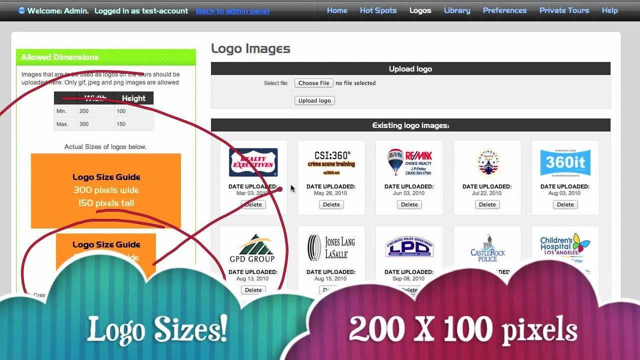 Adding Logos to Your VPiX Virtual Tours