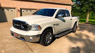 17 RAM 1500 ECODIESEL LIMITED 4X4 RAMBOX PEARL WHITE FOR SALE INFO SUNSETMOTORS.COM DODGE CREW CAB