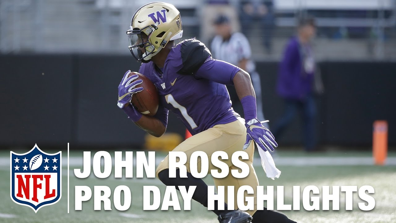 30a48e8b86d John Ross' Pro Day: Running Routes & Catching Passes | NFL | 2017  Washington NFL Pro Day