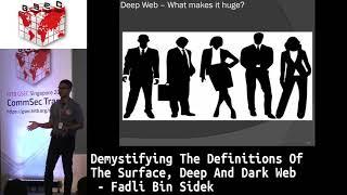 #HITBGSEC 2018 COMMSEC - Demystifying The Definitions Of Dark - Fadli. B. Sidek