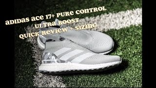 low priced 6fbe3 061a2 Unboxing Ace 17+ Pure Control Ultra Boost Gray Camo Review + SIZING + City  Sock ...
