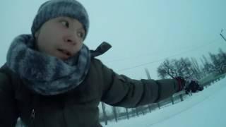 Привязали к машине, обули борд - поехали!(Выбрались с братом покататся пока выпал снег, как это было смотрите в этом видео. Подписатся на канал https://www..., 2017-01-11T19:02:20.000Z)