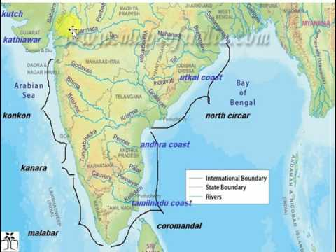(Hindi) indian coast line study gk