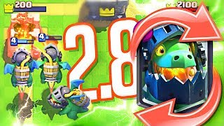 """NEW"" 2.8 Inferno Dragon CYCLE!!  (Clash Royale)"
