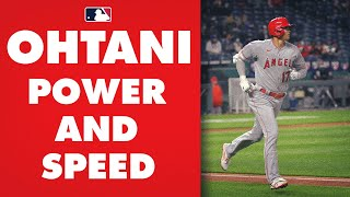 Power and Speed! Shohei Ohtani SPRINTS nearly 30 ft/sec for infield single, then CRUSHES homer!
