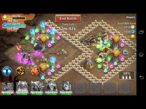 Castle Clash   How To Defeat Expert Dungeon 1:10