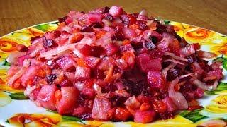Как сделать винегрет. Салат винегрет с фасолью и капустой