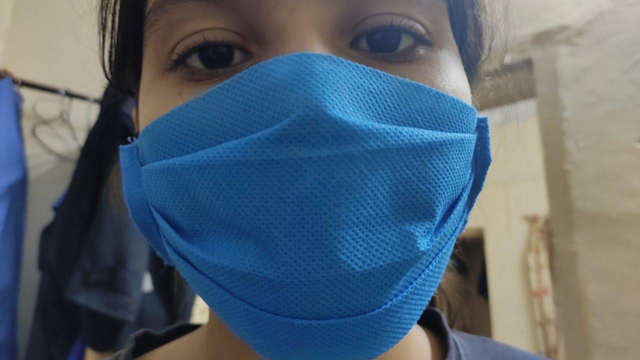 How to make mask corona virus Covid19 mask making at home from cloth bag   mask kaise banaye idea