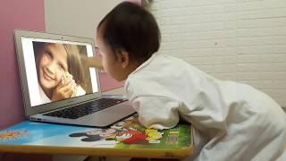 Nhật ký học tiếng Anh Monkey Junior của chị Đại 1 tuổi ngày 19-05-2019