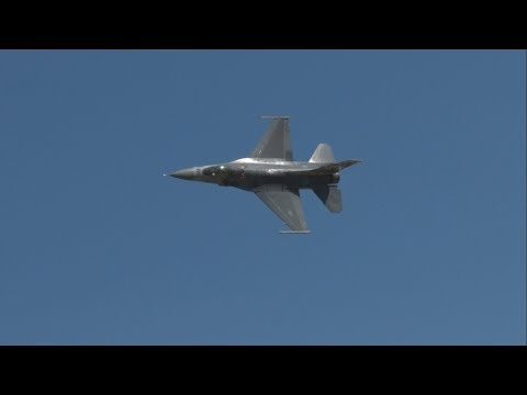 2017 Rhode Island ANG Open House & Airshow - F-16CJ Fighting Falcon Demonstration