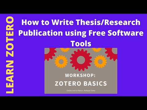 Live Webinar On Writing Mater's/Ph.D Thesis/Proposal/ Projects/Research/Review Articles Using Zotero