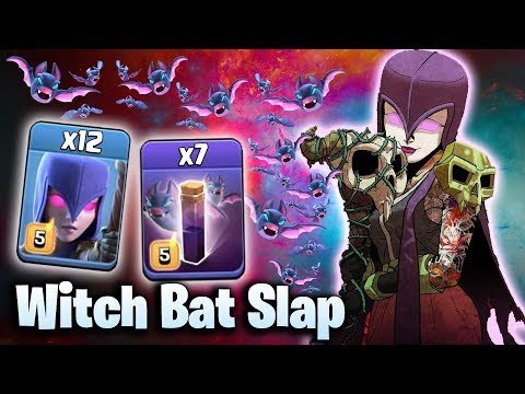 WITCH BAT SLAP 2019!  TH12 SUPER STRONG WAR ATTACK STRATEGY 2019 | Clash of Clans