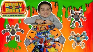 Ready to Robot BIG SLIME BATTLE || Playset Arena Ready to Robot Full Unboxing || Dj_Play_Day