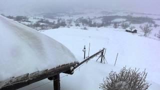 Camping Perticara sneeuw/neve