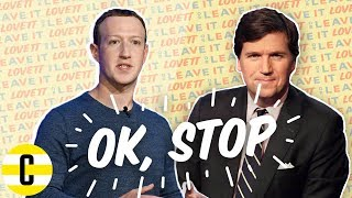 Tucker Carlson is mad at Facebook   Ok, Stop!