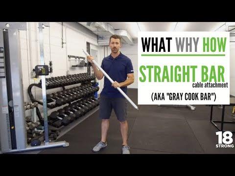 WWH: Straight Bar Attachement : Gray Cook Bar