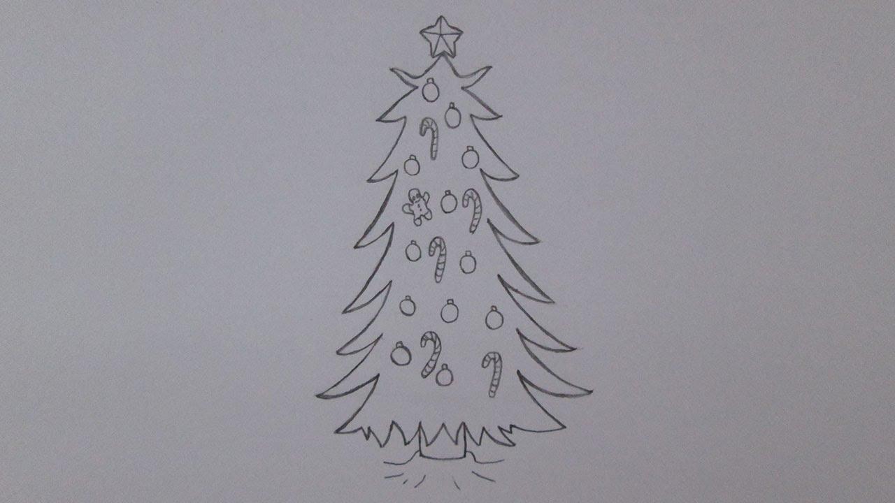 Como Desenhar Uma Arvore De Natal Youtube