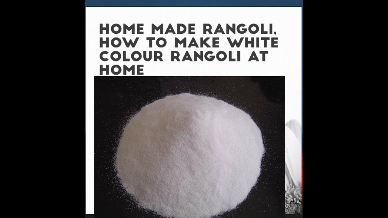 How To Make White Color Rangoli At Home In