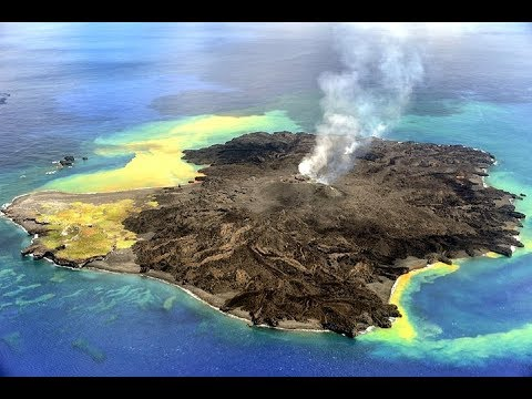 New volcanic island in Japan , Ogasawara Islands' Nishinoshima volcano erupting again
