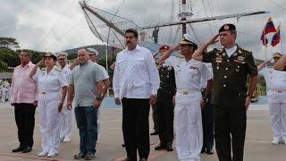 Nicolás Maduro,  despide el Buque Escuela Simón Bolívar hacia el XXVII Crucero de Instrucción
