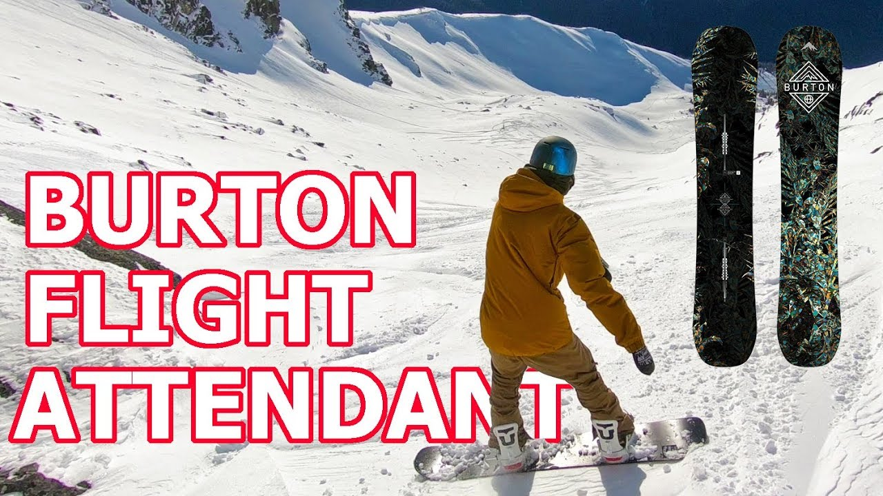 72735dfbd5b7 Burton Flight Attendant Snowboard Review - YouTube