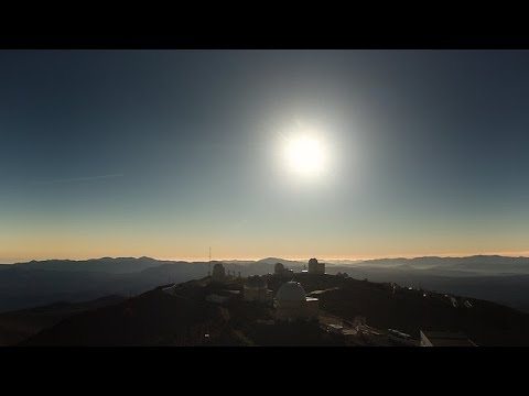 2019 total solar eclipse real-time video, La Silla Observatory