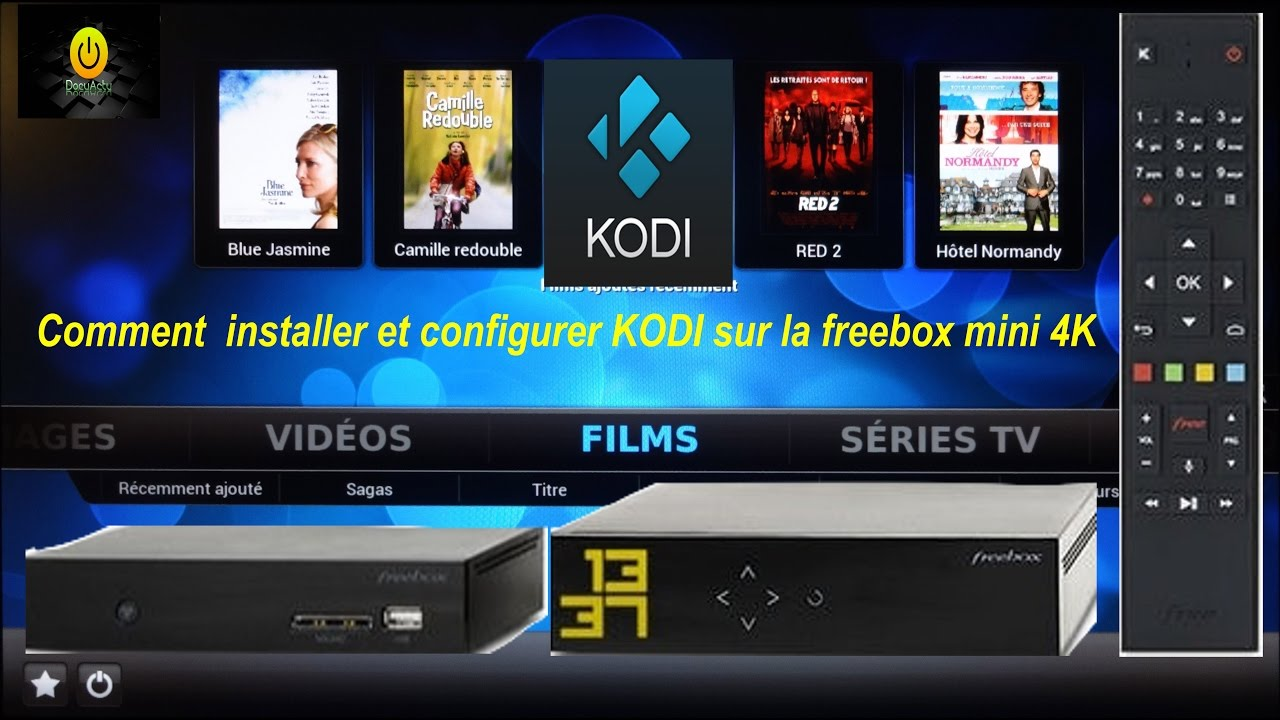 installer et configurer kodi sur la freebox mini 4k funnycat tv. Black Bedroom Furniture Sets. Home Design Ideas