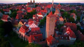 Rothenburg Aerials: Sunrise vs. Sunset