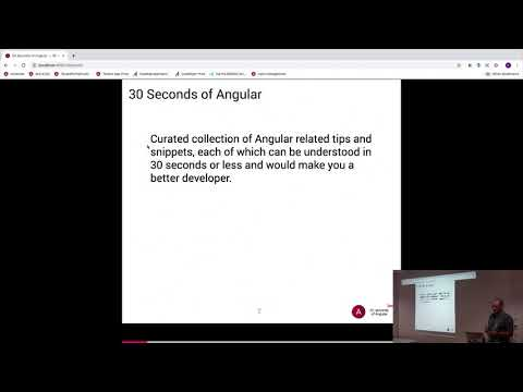 Thumbnail for Angular Berlin - Lighting Talk about 30 Seconds of Angular by Sergey Fetiskin at 29.08.2019