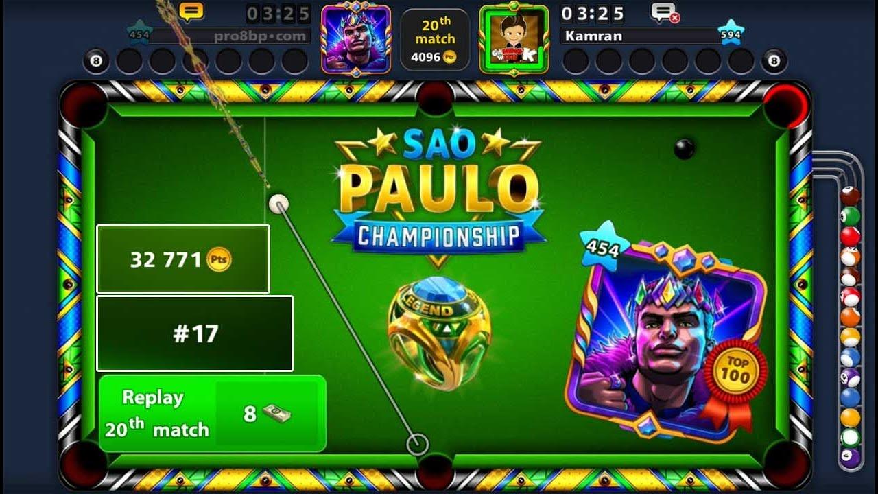 8 ball pool São Paulo Championship 😍 Top 100 and Ring