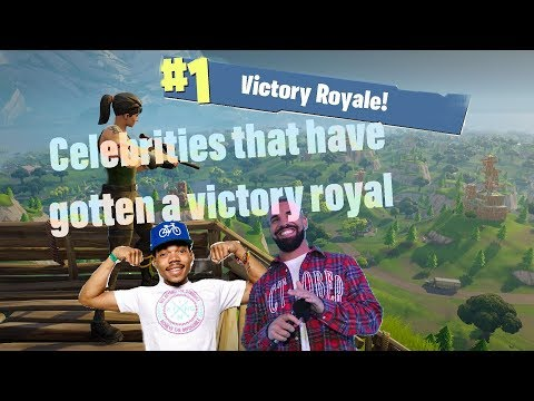 Celebrities that have gotten a victory royale in Fortnite *Drake, Lil yachty, etc...