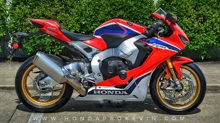 2017 honda cbr1000rr sp review of specs start up   cbr sport bike motorcycle walk around   hrc